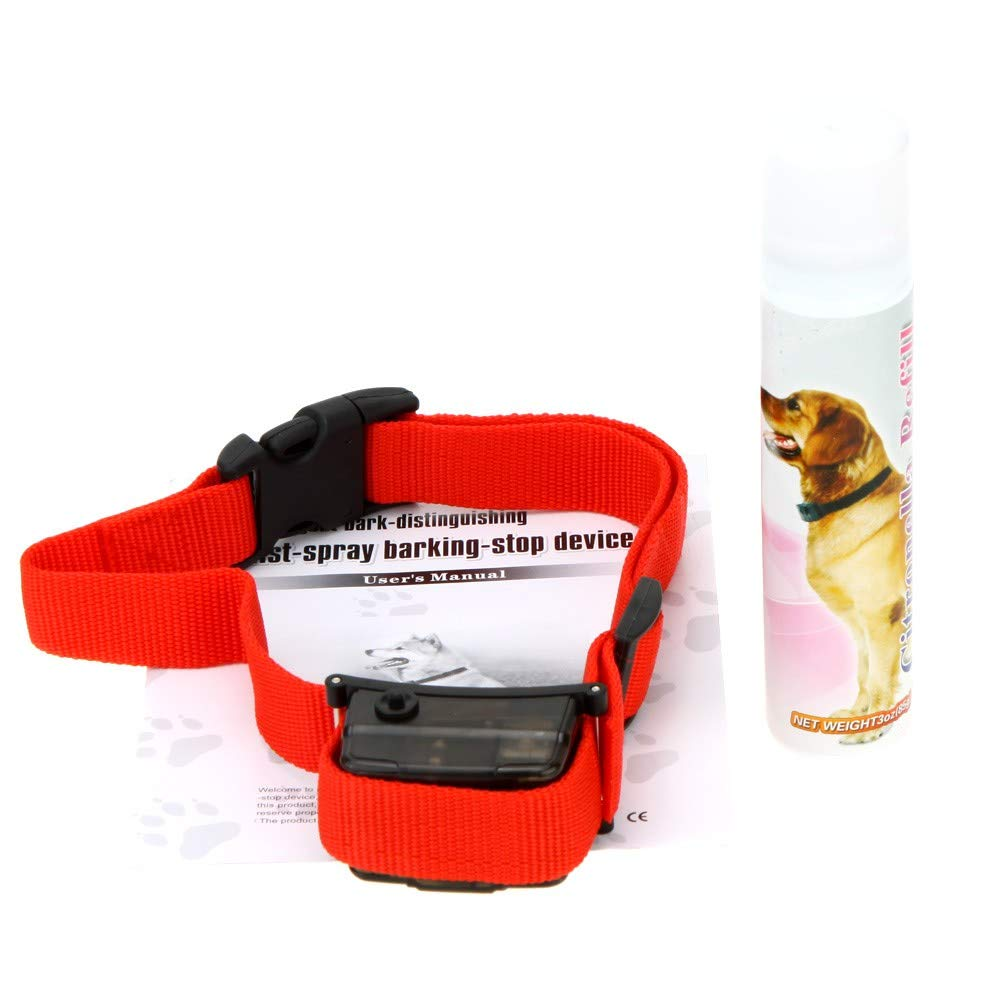 EasyBuying Pet Dog Citronella Spray Bark Control No Barking Collar Professional Pets Training Tool