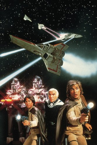 atch als Capt. Apollo unt Dirk Benedict als Lt. Starbuck in Battlestar Galactica 91x60cm Farb-Posterdruck (Starbuck Von Battlestar)