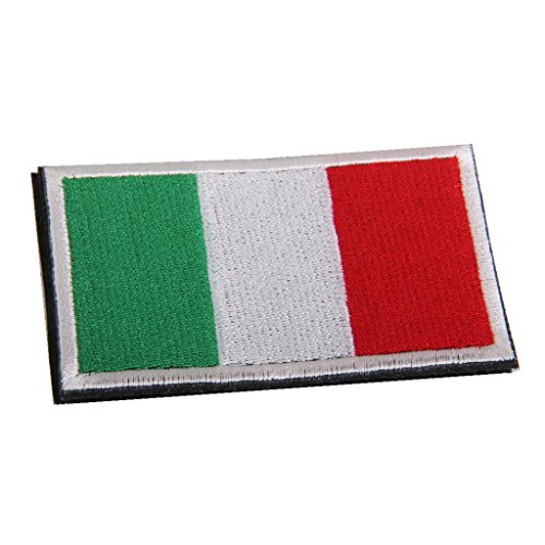 Baoblaze bandiera badge flag badge applique patch ricamata tattico ricamo hook loop distintivo badge accessori - italiana
