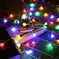 LE Kugel Lichterkette, 8 Lichtermodi mit Merkfunktion, RGB, ideal für Zimmer, Weihnachtsbeleuchtung, Deko, Innen, Party usw.