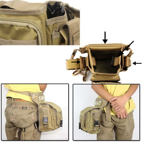 HuntGold Neue Multifunktions SWAT Praktische Bein Utility Taille Beutel Fördermaschine Bauchtaschen Packung Schwarz