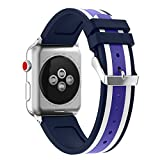 Sports Silicone Bracelet Strap Band For Apple Watch Bands Series 3/ 2 /1 38mm or 42mm (42MM, C)