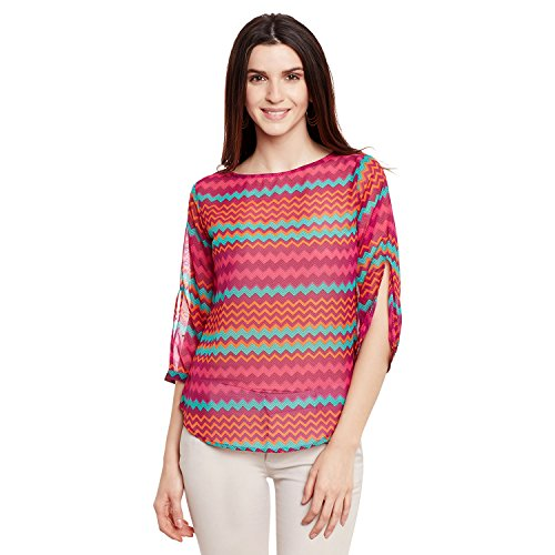 Forelevy Casual 3/4th Sleeve Printed Women's Multicolor Top