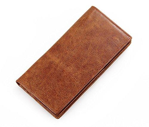 Everdoss Hommes portefeuille en cuir sac à main portemonnaie bourse sac des cartes pliable long