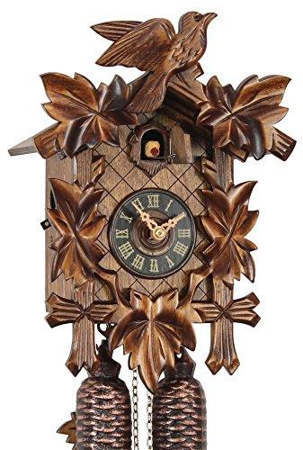 Original Schwarzwälder Kuckucksuhr aus Echtholz, mechanisches 8-Tage Laufwerk und VDS Zertifikat - Angebot von Uhren-Park Eble - Eble -Fünflaub 28cm- 28-01-12-80
