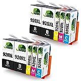 JARBO Reemplazar por HP 920 XL Cartuchos de tinta (4 Negro, 2 Cian, 2 Magenta, 2 Amarillo) gran capacidad para HP Officejet 6000 6500 7000 7500 E709 Impresora