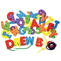 """Chenille Kraft 4466 Lacing Letters and Numbers Set Letters & Numbers, Assorted, 2.75"""""""