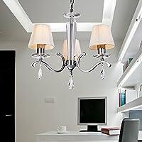 OOFAY LUCE Contemporary ferro creativa sala da pranzo soggiorno cristallo letto Lampadario con 3 luce