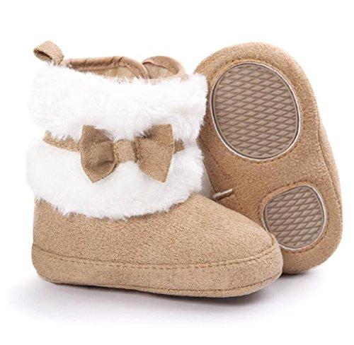 Covermason Winter Baby Mädchen Krippe Schuhe Kleinkind Stiefel Weiche Sohle Schneestiefel Khaki