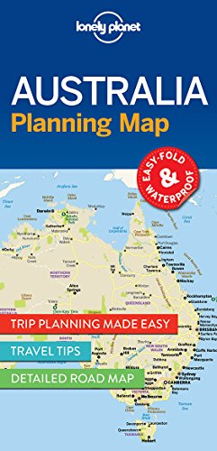 Australia Planning Map - 1ed - Anglais par Lonely Planet LONELY PLANET
