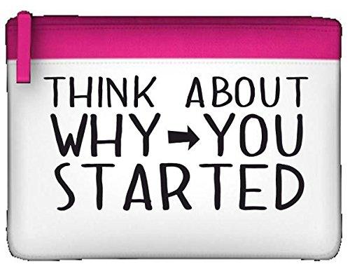 Think About perché è iniziato PopArtUK-Astuccio piatto, porta accessori con chiusura a Zip Misura unica rosa