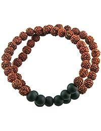 Fourseven Double Layer Rudraksh Bracelet for Men and Boys