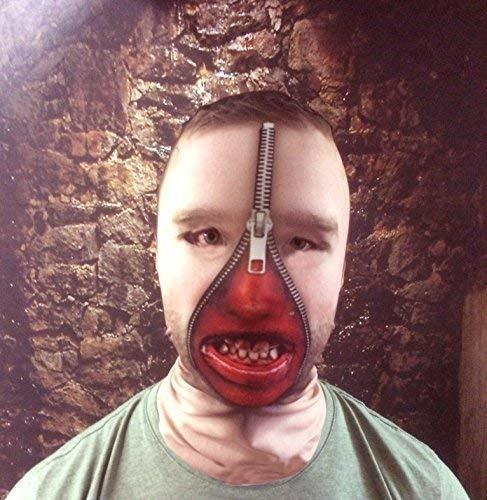 L&S PRINTS FOAM DESIGNS 3D-Effekt Man Zip Face mit Zähnen Effekt Face Haut Sensenmann hergestellt in ()