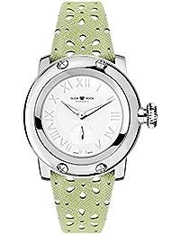 Glam Rock summerTime Damen-Armbanduhr 40mm Armband Leder Grün Gehäuse Edelstahl Schweizer Quarz GR40421