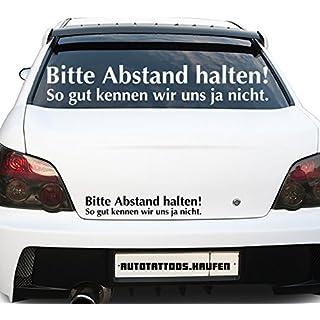 Autotattoos.kaufen Car Sticker Distance won't let We Know So Well Yes