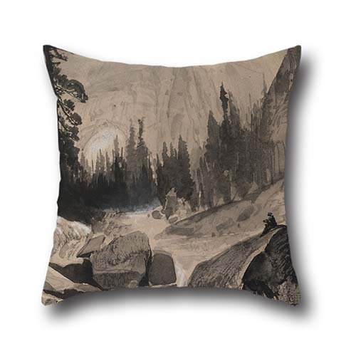 18-x-18-inches-45-by-45-cm-oil-painting-thomas-moran-the-north-dome-yosemite-california-pillowcover2