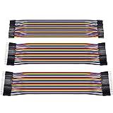 Zacro 3 en 1 20cm 40Pcs Dupont cable de puente Cable 1P-1P macho-macho / hembra-hembra / hembra-macho para Arduino Breadboard