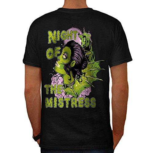 Nacht Von Herrin Zombie Horror USA Herren M T-shirt Zurück   (Zombie Kostüme Herrin)
