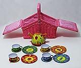 Picknickkorb für Kinder Trendy Tee-Set 13 teilig im Korb mit Zubehör 14222