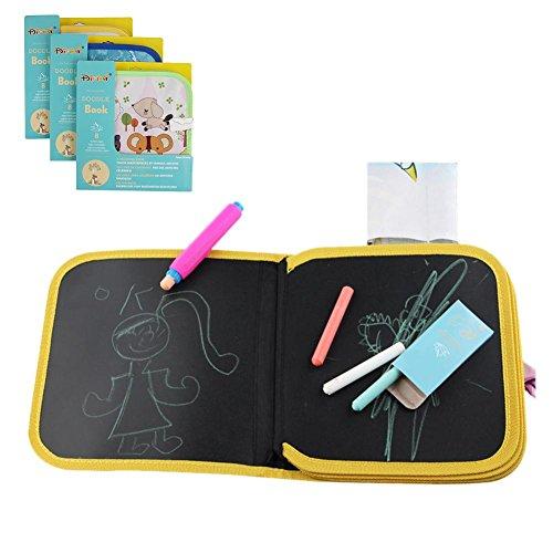 Beatie Tablero de dibujo de Graffiti de aprendizaje de niños Tablero de dibujo de aprendizaje temprano de niños Tablero de dibujo portátil y aprender Juguete innovador Libro de paño de tiza colorido