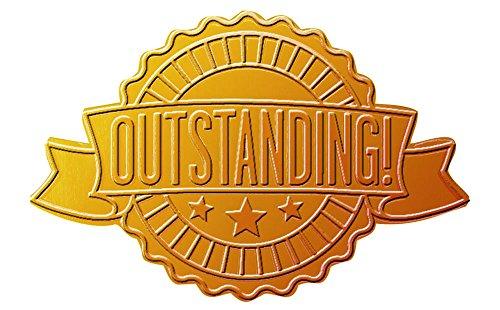 Tolles Papier. Ausgezeichnete Band geprägt und Gold Folie Zertifikat Dichtung, 4,4cm 48Count (20104102) (Gold-folie-zertifikat Dichtungen)