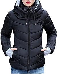 iBaste Mantel Damen Winterjacke mit Kapuzen Parka Steppjacke Wintermantel  Herbstjacke Outwear ba70db6e2f