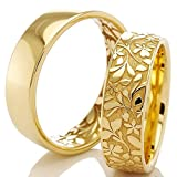 Trauringe 375/- Apricotgold F-07434-060 - FLORA