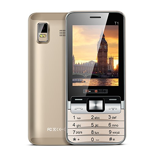 Padgene® Téléphone Portable Débloqué 2G ( 2,8 pouces Ecran – Double SIM – 64Mo ) Or
