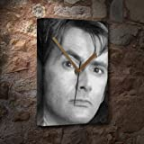 DAVID TENNANT - Canvas Clock (A5 - Signed by the Artist) #js003