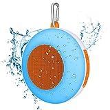 Wasserdichte Bluetooth Lautsprecher, Macrimo IPX5 Wireless Außen-Lautsprecher, Berührungssteuerung Farbwechsel Musik Rhythmus Night Light, Orange