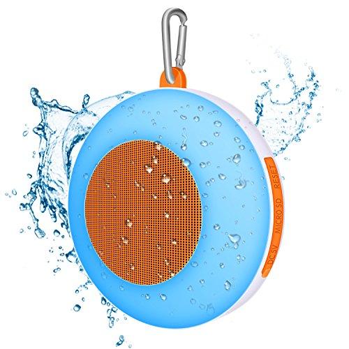 Wasserdichte Bluetooth Lautsprecher, Macrimo IPX5 Wireless Außen-Lautsprecher, Berührungssteuerung Farbwechsel Musik Rhythmus Night Light, Orange (Dusche Lautsprecher Iphone)