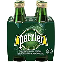 Perrier Nature's Basket Vidrio Agua Mineral Natural con Gas - Pack de 4 x 33 cl - Total: 1320 ml