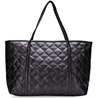 Fashion Donna Women Black Quilting Large Bag Borsa Borsa a mano Handbag Tote Tracolla