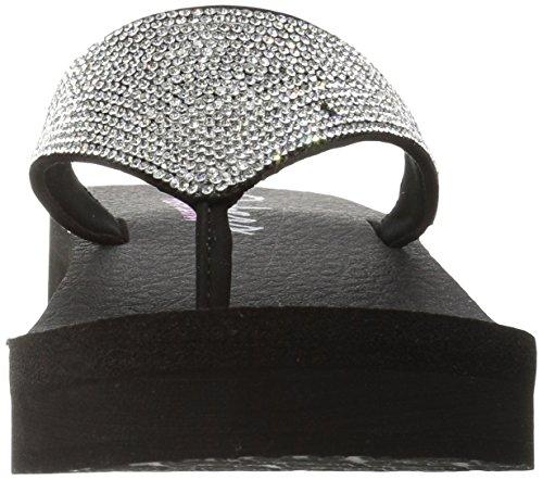 Skechers Vinyasa, Sandales Plateforme  Femme Noir (Blk)