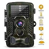 GreensKon Wildkamera 16MP, 1080P, HD, 6,1cm LCD Bildschirm, IP56,wasserdicht, 120Grad Winkel, Infrarot bis zu 20m, Nachtsicht, Jagdkamera, Sicherheitskamera