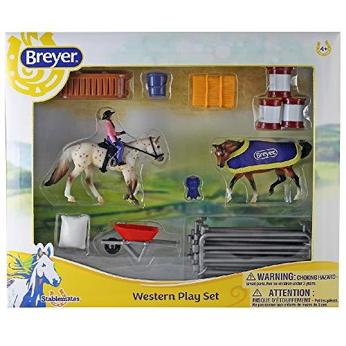 netproshop Breyer Stablemates Spielset Pferde und Reiter mit Schönem Zubehör, Farbe:A