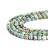 Perlas color turquesa africanas de 2mm, 3mm, 4mm, 6mm, 8mm, 10mm y 12mm para creación de joyería de Ruilong, Turquesa, 3 mm