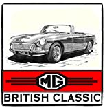 MG Classic Roadster * British Classic * Vintage Stil Metall Schild
