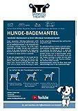 Hundebademantel Gr. 6: ab ca. 69 cm Rückenlänge – trocknet auch den Bauch! geeignet für sehr große Hunde z.B. Berner Sennenhund, weibl. Neufundländer - 5