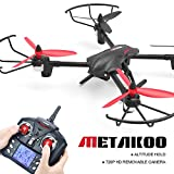 Metakoo D1 Drohne mit Kamera RC Quadcopter Drone Kamera 720P HD Höhenhaltung Headless Mode 3D Flip 2.4GHz 4CH 6 Axis Gyro LED Beleuchtung Ferngesteuertes Flugzeug Spielzeug