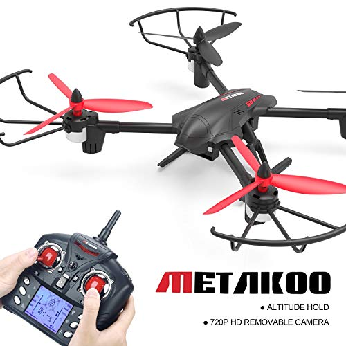 Produktbild Metakoo D1 Drohne mit Kamera RC Quadcopter Drone Kamera 720P HD Höhenhaltung Headless Mode 3D Flip 2.4GHz 4CH 6 Axis Gyro LED Beleuchtung Ferngesteuertes Flugzeug Spielzeug