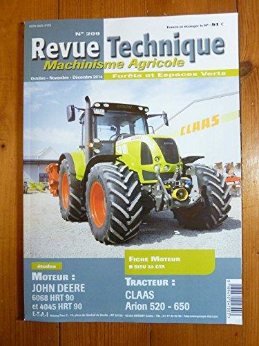REVUE TECHNIQUE TRACTEUR AGRICOLE ET MACHINISME CLAAS ARION 520 , 650