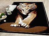 Safari Designer Teppich Tiger in 3 Größen