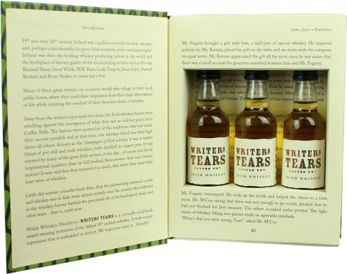 Writers Tears Copper Pot Irish Whiskey Mini-Set in Buchhülle - 2