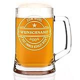 Leonardo Bierkrug 500 ml - Bierlogo - mit Gratis Gravur des Namens
