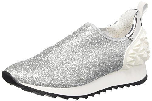 Cult Cream Scarpe Low-Top, Donna Argento (Silver/White)