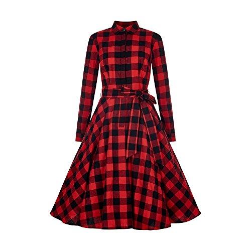 Mara Checked Shirt Kleid Black/Red Size 3XL (Shirt-kleid Checked)