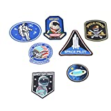 #1: Hexawata DIY Embroidered Patch Applique Astronaut Air Force Diver Badge Cloth Sticker Decorations
