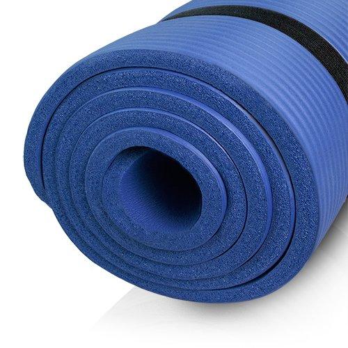 diMio Yogamatte Gymnastikmatte rutschfest mit Tragegurt, phlatatfrei + SGS-geprüft, 185x60x1.5cm Tiefblau
