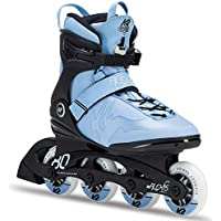 K2 Damen Fitness Inline Skates Alexis 80 Pro, ABEC 5 Kugellager 80mm Rollen 80A Softboot, Blau-Schwarz, 30C0817.1.1